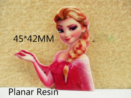 5 x 46mm NEW RED ELSA FROM FROZEN LASER CUT FLAT BACK RESIN IDEAL FOR HEADBANDS BOWS CARD MAKING